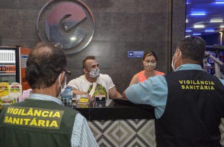 Vigilância Sanitária fiscaliza 407 estabelecimentos no final de semana