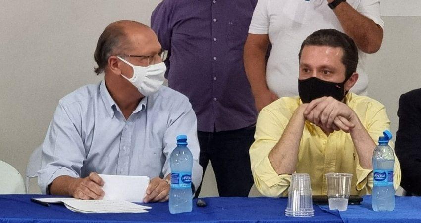 Lideranças políticas se reúnem com Alckmin e Fausto Pinato e Nhandeara